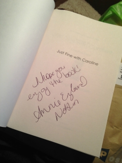 just-fine-w-caroline-signed-book-mail
