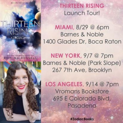 Thirteen Rising Launch Tour